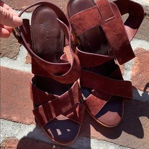 Joie maroon sandals .  Size 38